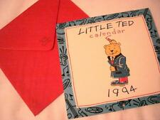 Calendar Little Ted BEAR NEW Papermill Collection Loop the Loop Ltd London RARE