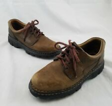 Born Brown Leather Oxfords Chunky Heels Women's Size 8M / 39 C18