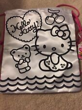 Hello Kitty Draw String Bag To Color