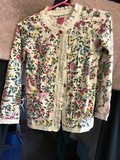 BNWT Joules Girls Elena Pink White Stars Silver Half Zip Cotton Lined Fleece