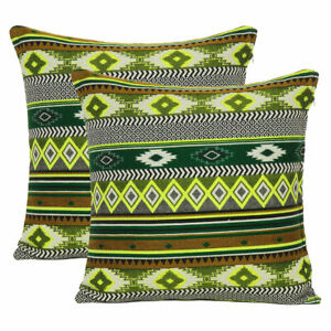 Indian Knitted Cushion Cover Cotton Throw Pillow Cover Zippered Sofa Pillowcase