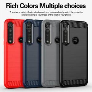 For Motorola G10 G30 G8 Power Lite E7 G9 Plus Play Carbon Fibre Phone Case Cover