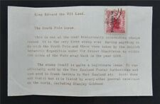 nystamps British New Zealand Stamp Used King Edward Land Ovpt Rare      S17y3052