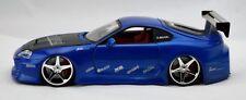 Jada Toys Toyota Supra Import Racer Blue 50700-9 Dubshop 1:24 Dub City RARE