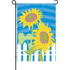 "Farmhouse Sunflowers Garden Flag (11"" x 18"" Approx).4. Pr 51152"