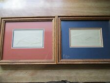 Set Of Two (2) Nora K. Fischer Embossed Intaglio's Signed & Numbered Orca & Hump
