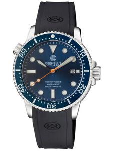 Deep Blue Master 1000 44MM Diver Automatic Diver Gen 2 BLUE CERAMIC BEZEL