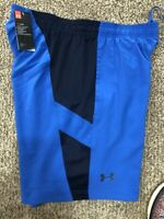 Under Armour UA HeatGear® 9-in Men's SZ M Running Athletic Blue Shorts 1306528