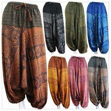 Hmong Harem Pants Bohemian Tribal Aladdin Genie Boho Yoga Hippy Trousers Cotton
