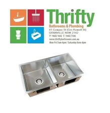 EVERHARD SQUARELINE PLUS DOUBLE KITCHEN SINK STAINLESS STEAL