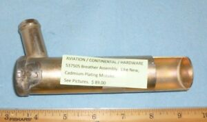 CONTINENTAL p/n 537505 BREATHER ASSEMBLY (AVIATION)