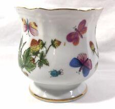 "Hand Painted China Vase Ardalt Lenwile Strawberries & Butterflies 7253 3.5"""