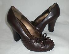 "Mia Alissa pumps brown detailed 3.75"" heels 5.5 Med NEW"