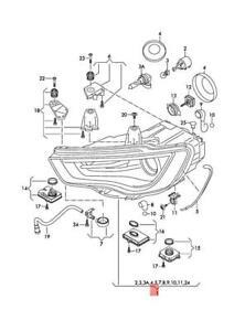 Genuine AUDI A3 S3 Sportback Lim. quattro. Sportb. RS3 headlight 8V0941043A