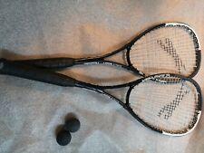 X2 Slazenger squash Racket Racquet Black Graphite w/ bags and balls