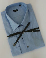 Paul Smith Shirt Size 17.5 EXTRA LARGE SLIM FIT Sky Blue Polka Dots