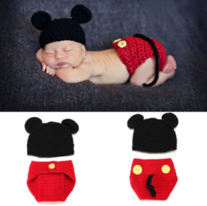 Newborn Baby boys Girl Crochet Knit Clothes Photo Photography Prop Costume Hat