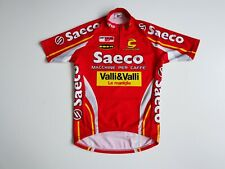 VINTAGE MEN'S CANNONDALE SAECO RED CYCLING SHIRT JERSEY BIKE CICLISMO SIZE SMALL