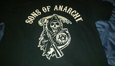 Sons Of Anarchy Black T-Shirt 100% Cotton Size XXL