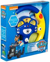 BOYS CHASE PAW PATROL ELECTRONIC CAR STEERING WHEEL PRETEND DRIVING TOY SOUNDS