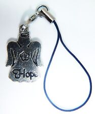 Antique Silver 'HOPE' Angel Phone Charm Gift Bag iphone Nokia Samsung  Hauwei