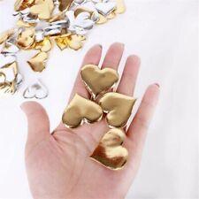 100Pcs Golden Silver Sponge Heart Wedding Decor Scene Hand Throwing Gilded Love