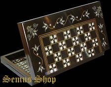 Orientalische Gesellschaftsspiele Backgammon TAVLA XXL Intarsien Look  B-WARE