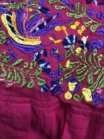 RAJ IMPORTS Womens PEASANT/BOHO/BLOUSE/TOP Cotton, Embroidered Floral Print