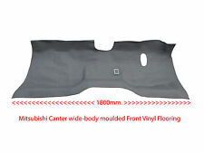 To suit Mitsubishi Canter wide body Truck - Moulded Rubber Vinyl Front Floor