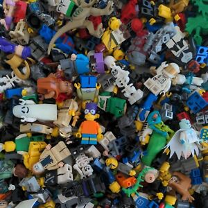Lego Minifigures Bulk 5 Pound Lot Of Assorted Minifigs and Accessories 5 lb