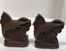 Swordfish Bookends Marlin Off Shore Fishing Vintage