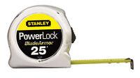 Stanley  PowerLock  25 ft. L x 1 in. W Tape Measure  Yellow  1 pk