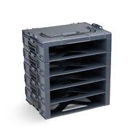 Bosch Sortimo i-Boxx Rack 5fach Werkzeugkoffer boxx anthrazit leer ohne Inhalt