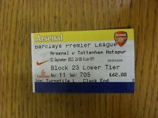 01/09/2013 Ticket: Arsenal v Tottenham Hotspur  . Thanks for viewing this item,