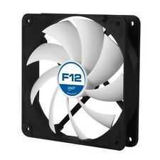 Arctic Cooling F12 Case Fan 120mm Silent Black White PC Desktop 6Y WTY