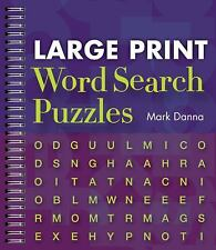 Large Print Word Search Puzzles by Mark Danna (2010, Spiral)