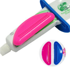 4pc/set Creative Dentifrice Tube Presse Facile Distributeur Roulant Support