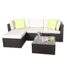 Polyrattan Lounge 5pcs Sitzgruppe für 3-4 Personen Gartenmöbel Balkonmöbel Set