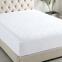 """Quilted Mattress Protector Pad Topper Cover 16"""" Deep Fitted Bed Sheet T/F/Q/K"""