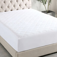 "Quilted Mattress Protector Pad Topper Cover 16"" Deep Fitted Bed Sheet T/F/Q/K"