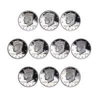 2000-09 S Kennedy Proof Half Dollar 90% Silver Proof Run 10 Coins Gem Deep Cameo