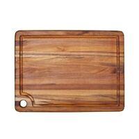 TeakHaus by Proteak Edge Grain Carving Board w/Corner Hole + Juice Canal (Rectan