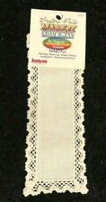 Janlynn Crafter's Pride Make It Your Way Cross Stitch Lace Bookmarks White
