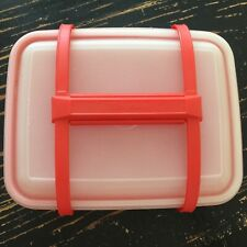 Vintage Tupperware Red/Orange Pack N Carry Lunch Box with Handle