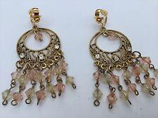 Clip on earrings for non pierced ears Vintage Art Deco style Chandelier drops