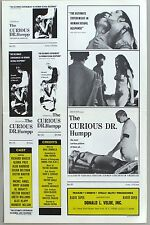 THE CURIOUS DR. HUMPP, a.k.a. La Vengaza Del Sexo  Movie Press Book, 1969
