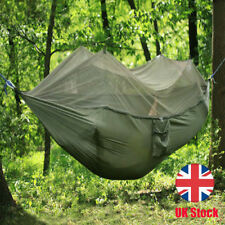 UK Double Person Travel Outdoor Camping Tent Hanging Hammock Bed & Mosquito Net