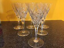 6 verres à vin en cristal ROTHE taille Eurydice H: 164 mm Val Saint Lambert.