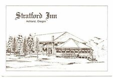 Stratford Inn Postcard Ashland Oregon Drawing Vintage Unposted Pool Ski Lockers