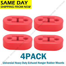 4* Heavy Duty Exhaust Hanger Bracket Mounting Rubber Replacement Universal Red